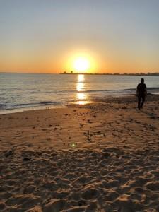coucher de soleil plage de Tanchet