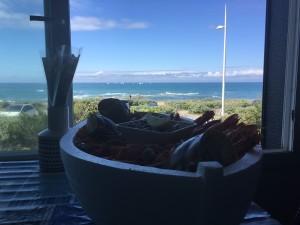 plateau de fruits de mer face mer villa Tanchet