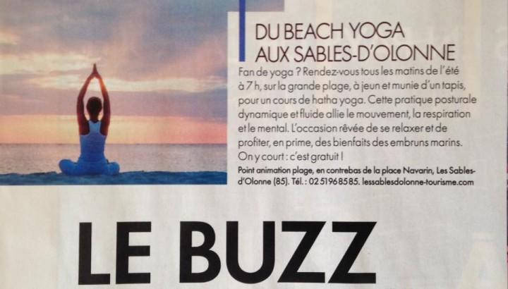 photo yoga les sables d'olonne sur la grande plage